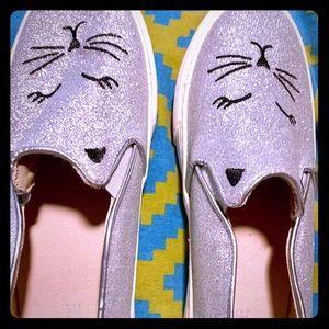 The Children's place glitter slip-on girl shoes
